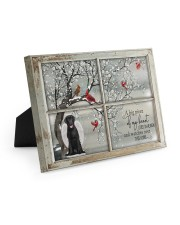 A Big Piece Of My Heart Lives In Heaven Black Lab 10x8 Easel-Back Gallery Wrapped Canvas thumbnail