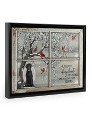 A Big Piece Of My Heart Lives In Heaven Black Lab 14x11 Black Floating Framed Canvas Prints thumbnail