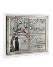 A Big Piece Of My Heart Lives In Heaven Black Lab 14x11 White Floating Framed Canvas Prints thumbnail