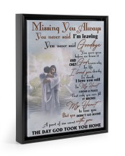 Missing You Always You Never Said I'm Leaving 11x14 Black Floating Framed Canvas Prints thumbnail
