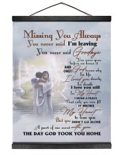 Missing You Always You Never Said I'm Leaving 16x20 Black Hanging Canvas thumbnail