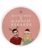 Best Wishes Circle ornament - single (wood) thumbnail