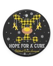 Childhood Cancer Awareness Circle Ornament Circle Ornament (Porcelain) tile