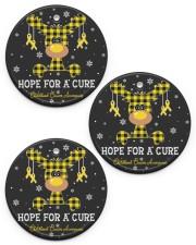 Childhood Cancer Awareness Circle Ornament Circle ornament - 3 pieces (porcelain) front