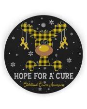 Childhood Cancer Awareness Circle Ornament Circle Ornament (Wood tile