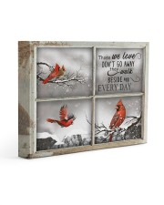 Those We Love Don't Go Away They Walk Beside Us 14x11 Gallery Wrapped Canvas Prints thumbnail