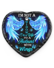 I'm Not A Widow I'm A Wife To A Husband Ornament Heart Ornament (Porcelain) tile