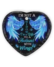 I'm Not A Widow I'm A Wife To A Husband Ornament Heart Ornament (Wood) tile