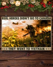 Real Heroes Didn't Go To Canada Went To Vietnam 36x24 Poster aos-poster-landscape-36x24-lifestyle-24