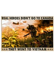 Real Heroes Didn't Go To Canada Went To Vietnam 36x24 Poster front