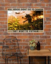 Real Heroes Didn't Go To Canada Went To Vietnam 36x24 Poster poster-landscape-36x24-lifestyle-20