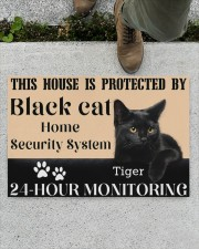 "This House Is Protected By Black Cat Doormat 22.5"" x 15""  aos-doormat-22-5x15-lifestyle-front-01"