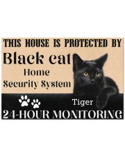 "This House Is Protected By Black Cat Doormat 22.5"" x 15""  front"
