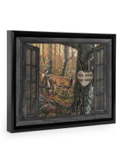 Hunting Couple 14x11 Black Floating Framed Canvas Prints thumbnail