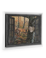 Hunting Couple 14x11 White Floating Framed Canvas Prints thumbnail