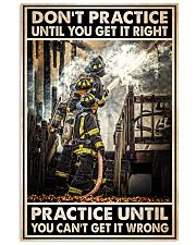 Don't Practice Until You Get It Right Vertical Poster tile