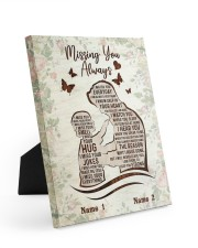 Missing You Always Easel-Back Gallery Wrapped Canvas tile