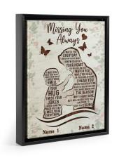 Missing You Always Floating Framed Canvas Prints Black tile