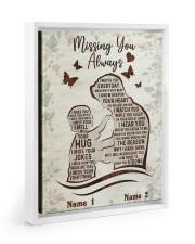 Missing You Always Floating Framed Canvas Prints White tile