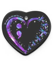 No Story Should End Too Soon Heart Ornament (Porcelain) tile