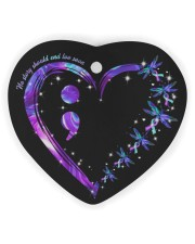 No Story Should End Too Soon Heart Ornament (Wood) tile