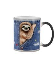 Sloth In The Bag Color Changing Mug tile