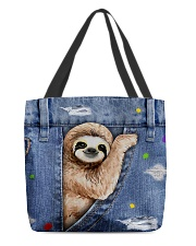 Sloth In The Bag All-over Tote front