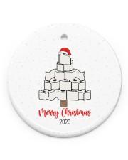 Toilet Paper Tree  Christmas Ornament  Circle Ornament (Porcelain) tile