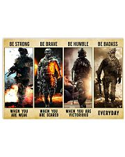 Be Strong Be Brave Be Humble Marine Veteran 36x24 Poster front