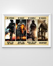 Be Strong Be Brave Be Humble Marine Veteran 36x24 Poster poster-landscape-36x24-lifestyle-02