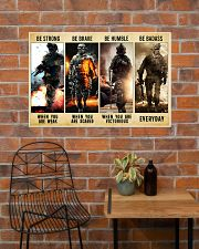 Be Strong Be Brave Be Humble Marine Veteran 36x24 Poster poster-landscape-36x24-lifestyle-20