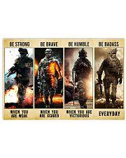 Be Strong Be Brave Be Humble Marine Veteran Horizontal Poster tile