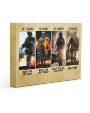 Be Strong Be Brave Be Humble Marine Veteran 14x11 Gallery Wrapped Canvas Prints thumbnail