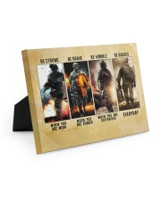 Be Strong Be Brave Be Humble Marine Veteran 10x8 Easel-Back Gallery Wrapped Canvas thumbnail