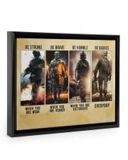 Be Strong Be Brave Be Humble Marine Veteran 14x11 Black Floating Framed Canvas Prints thumbnail