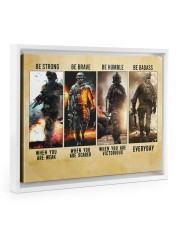 Be Strong Be Brave Be Humble Marine Veteran 14x11 White Floating Framed Canvas Prints thumbnail
