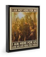 I Am Not Here For Me I Am Here For Us Floating Framed Canvas Prints Black tile