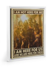 I Am Not Here For Me I Am Here For Us Floating Framed Canvas Prints White tile