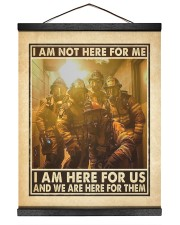 I Am Not Here For Me I Am Here For Us Hanging Canvas tile