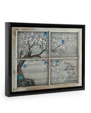 Those We Love Don't Go Away They Walk Beside Us  14x11 Black Floating Framed Canvas Prints thumbnail