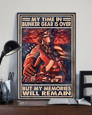 My Time In Bunker Gear Is Over But My Memories  24x36 Poster lifestyle-poster-2
