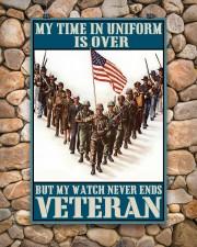 Veteran Gift My Time In Uniform Is Over But My Watch Never Ends 24x36 Poster aos-poster-portrait-24x36-lifestyle-15