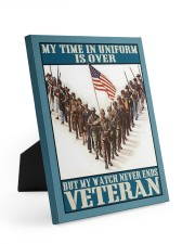 My Time In Uniform Is Over 8x10 Easel-Back Gallery Wrapped Canvas thumbnail