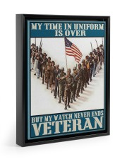 My Time In Uniform Is Over 11x14 Black Floating Framed Canvas Prints thumbnail
