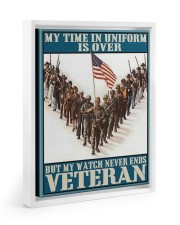 My Time In Uniform Is Over 11x14 White Floating Framed Canvas Prints thumbnail