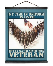 My Time In Uniform Is Over 16x20 Black Hanging Canvas thumbnail