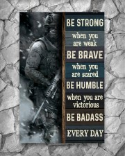 Be Strong When Weak Be Brave When Scared Veteran 11x17 Poster aos-poster-portrait-11x17-lifestyle-13