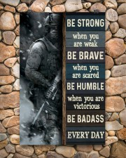 Be Strong When Weak Be Brave When Scared Veteran 11x17 Poster aos-poster-portrait-11x17-lifestyle-15