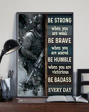 Be Strong When Weak Be Brave When Scared Veteran 11x17 Poster lifestyle-poster-2