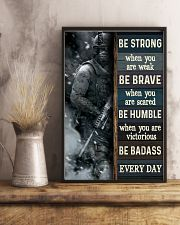 Be Strong When Weak Be Brave When Scared Veteran 11x17 Poster lifestyle-poster-3